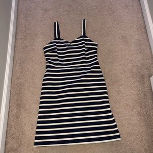 Navy Striped Cocktail dress NWOT